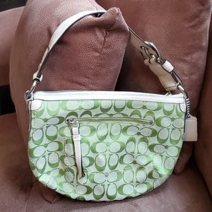 Coach lime green signature Soho hobo